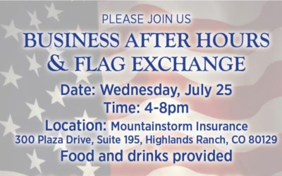 BUSINESS AFTER HOURS & FLAG EXCHANGE