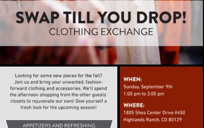 SWAP TILL YOU DROP! CLOTHING EXCHANGE