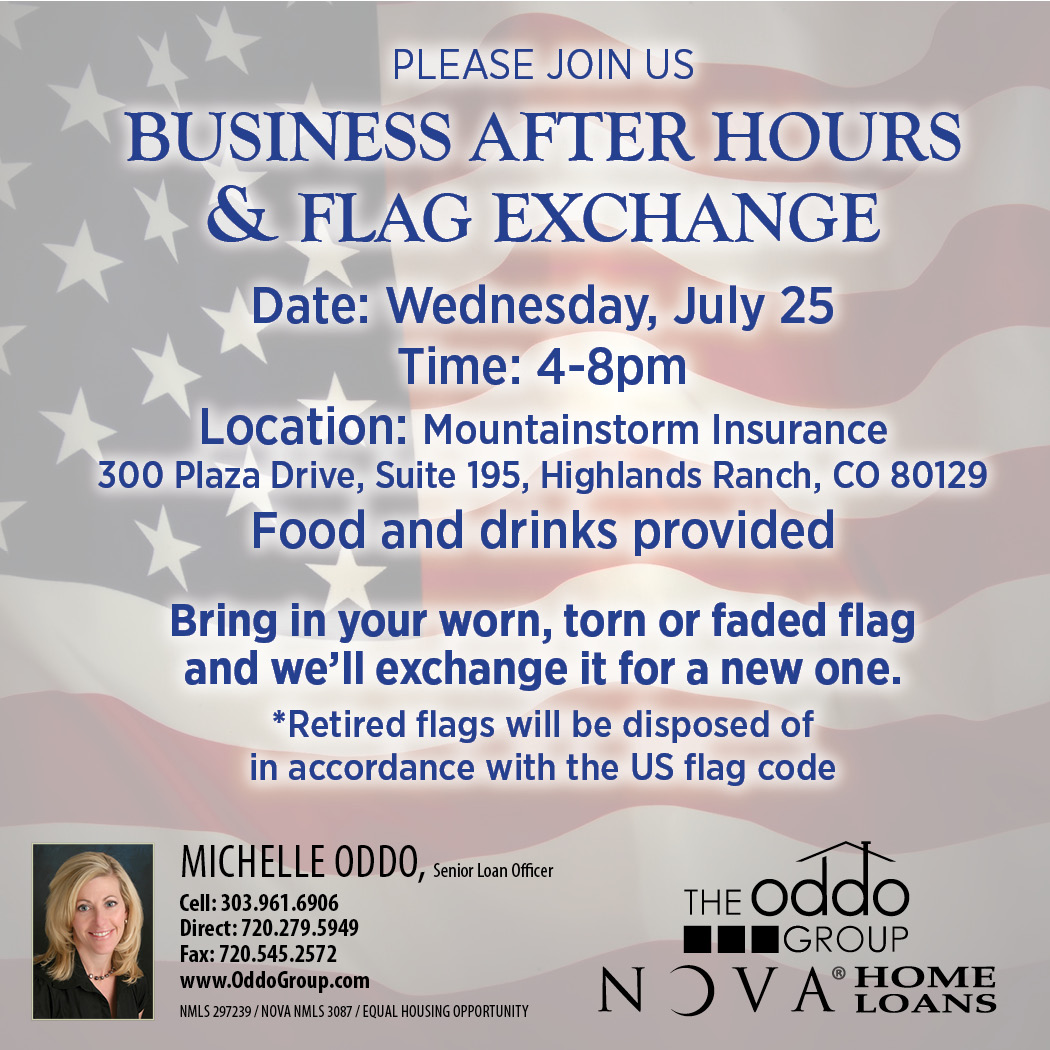 BUSINESS AFTER HOURS & FLAG EXCHANGE ~ Michelle Oddo